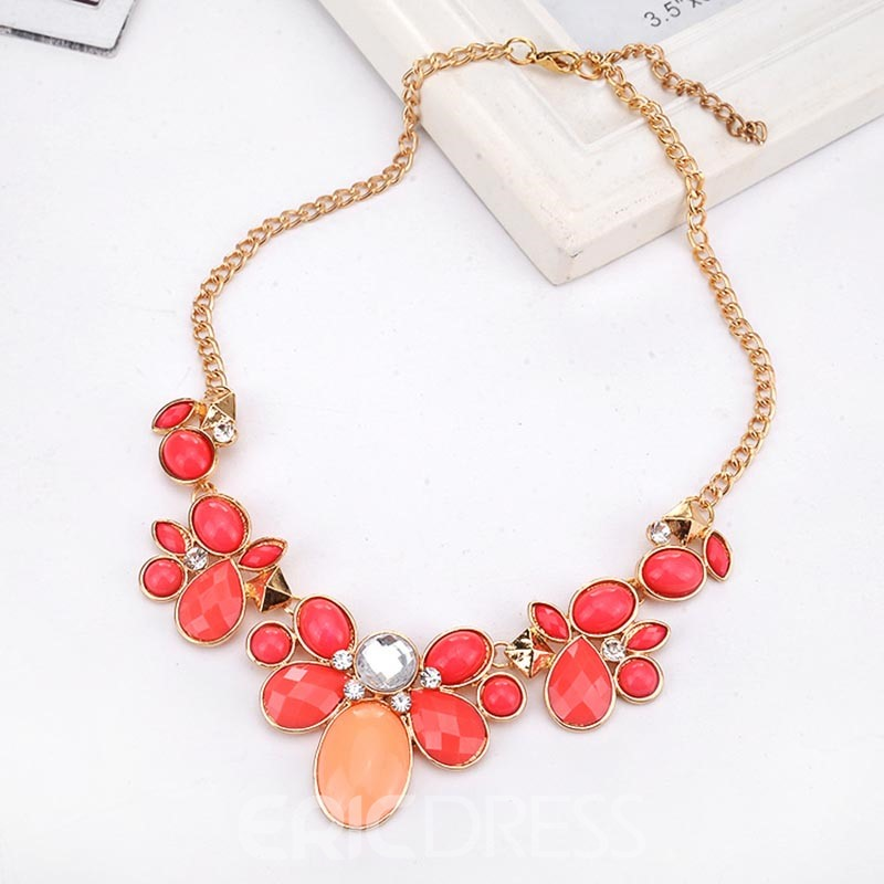 Ericdress Jelly Flower Necklace