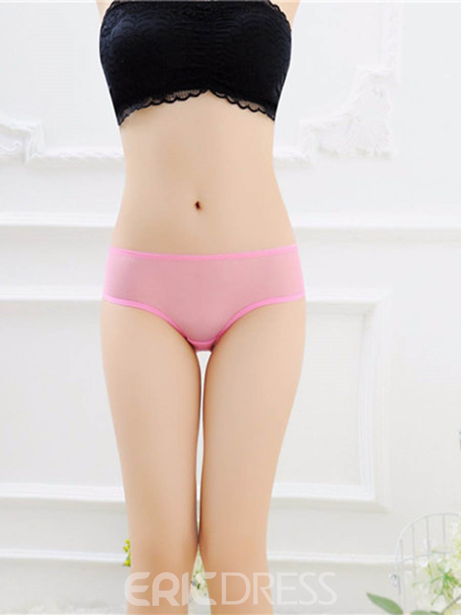 Eridress Embroidery Lace Breathable Sexy Panty