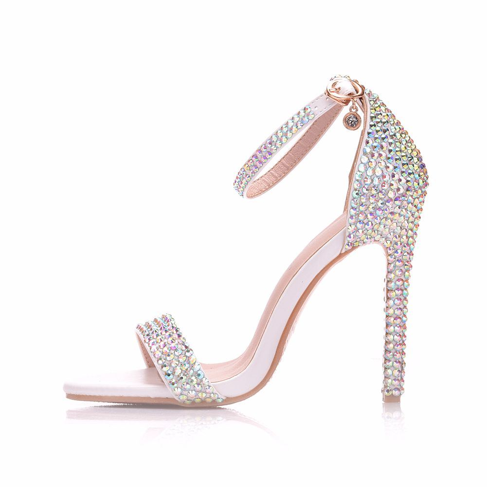 Ericdress Rhinestone Heel Covering Stiletto Heel Wedding Shoes