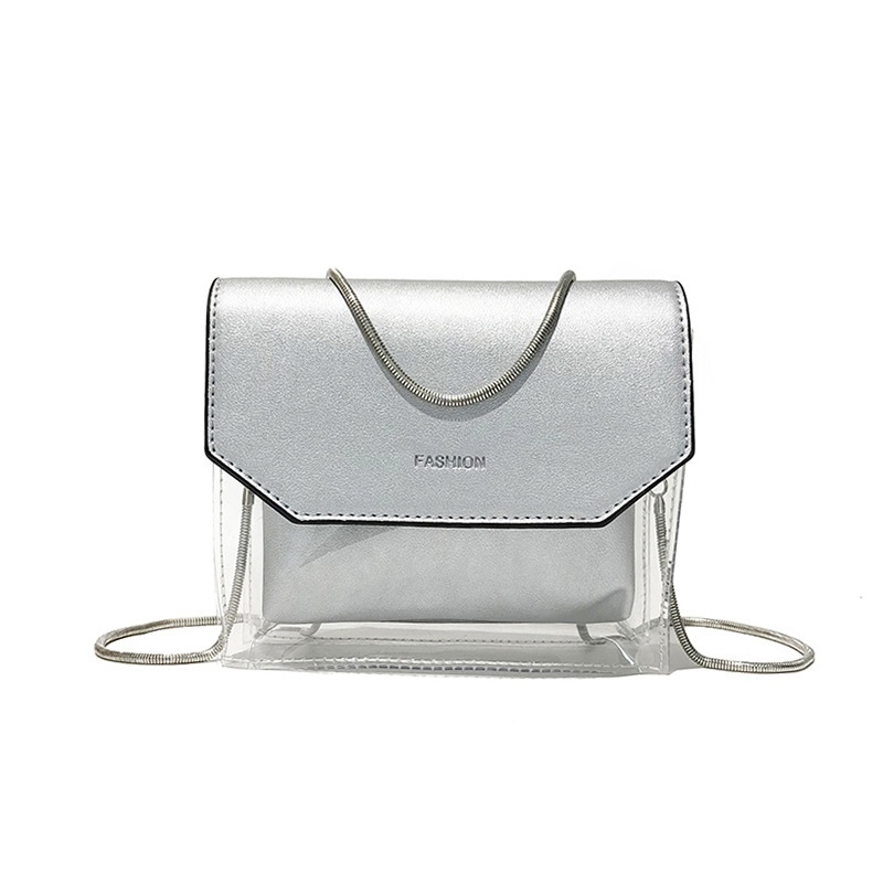 Ericdress Modern Style Plain PVC Crossbody Bag