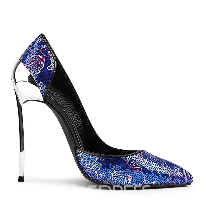 Ericdress Dramatic Slip-On Stiletto Heel Pointed Toe Prom Shoes