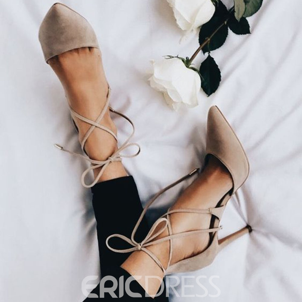 Ericdress Suede Pointed Toe Stiletto Heel Pumps