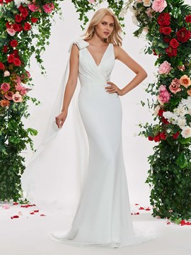 Ericdress Mermaid Backless Watteau Wedding Dress