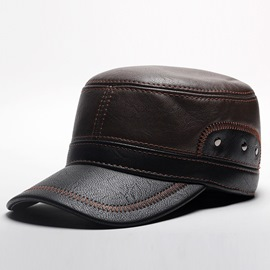 Ericdress Beret Winter Leather Men's Hat
