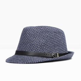 Ericdress Leather Buckle Bowler Hat