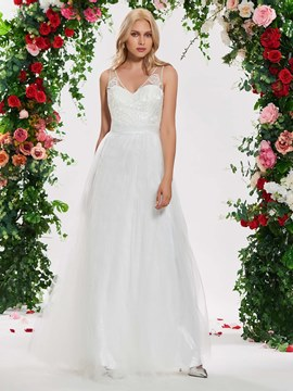 Ericdress A Line Tulle Wedding Dress