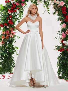 Ericdress Sweetheart Ball Gown Matte Satin Wedding Dress