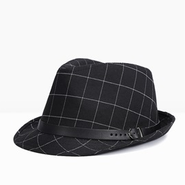 Ericdress Checks Fedora Men's Hat