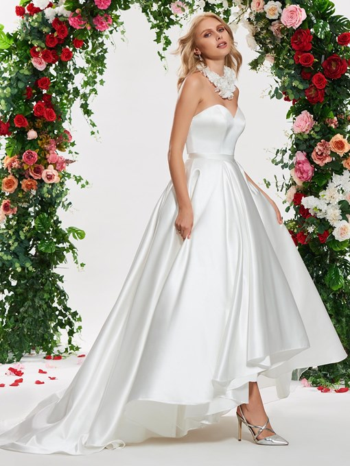 Ericdress Sweetheart Ball Gown High Low Wedding Dress