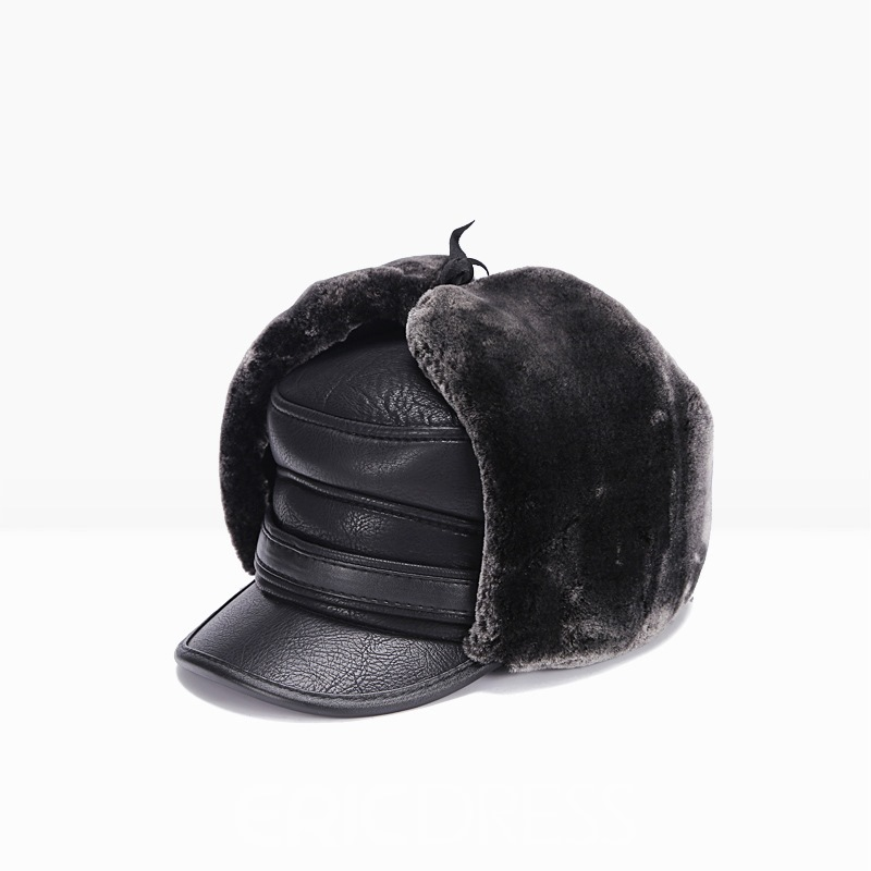 Ericdress Pu Fall&Winter Warm Men's Hat