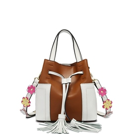 Ericdress Floral Barrel Shaped Shoulder Bag