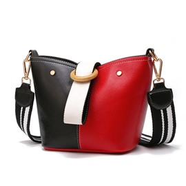 Ericdress Occident StyleBarrel Shaped Hasp Shoulder Bag