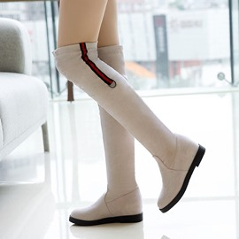 Ericdress Hidden Elevator Heel Slip-On Women's Knee High Boots