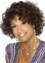 Ericdress Short Bob Curly Synthetic Hair African American Capless Wig