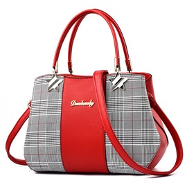 Ericdress Particular Plaid Zipper Handbag