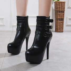 Ericdress Side Zipper Platform Women's Ankle Boots