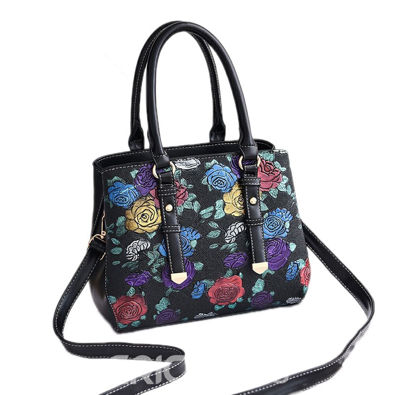 Ericdress Modern Floral Belt Decorated Women Handbag