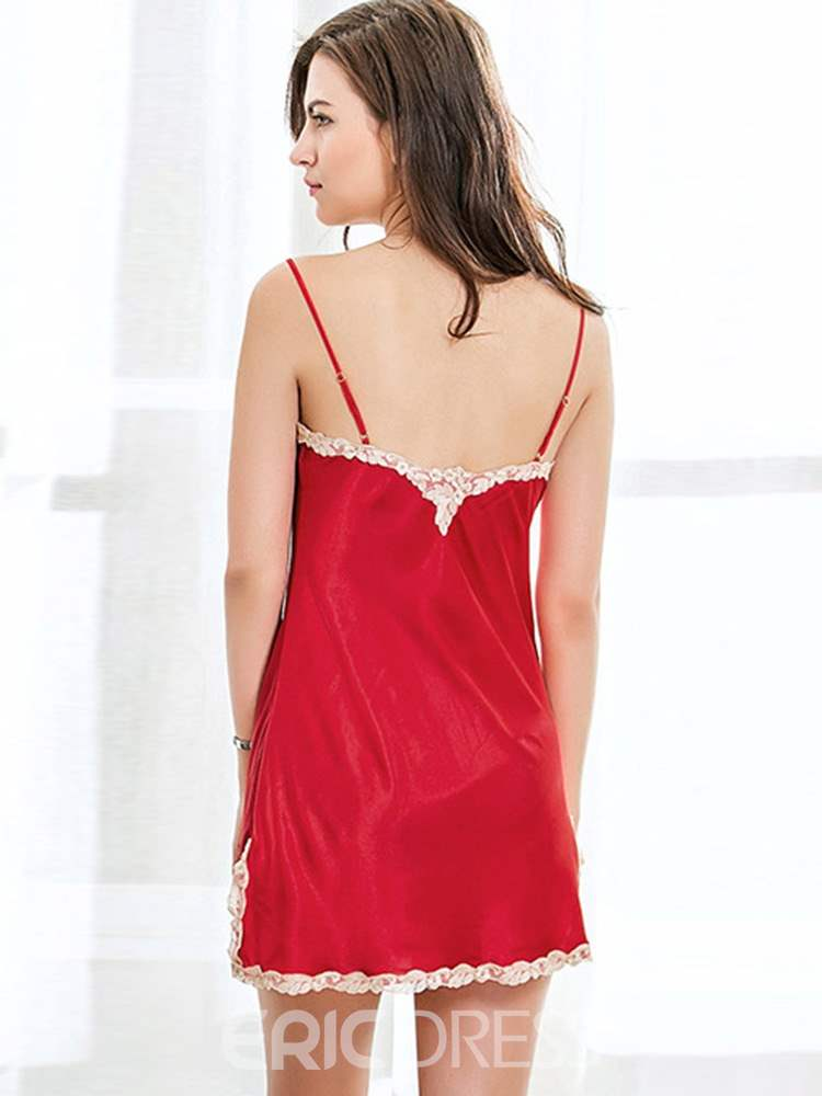 Ericdress Lace Nightgown and Nine Points Sleeve 2 Pieces