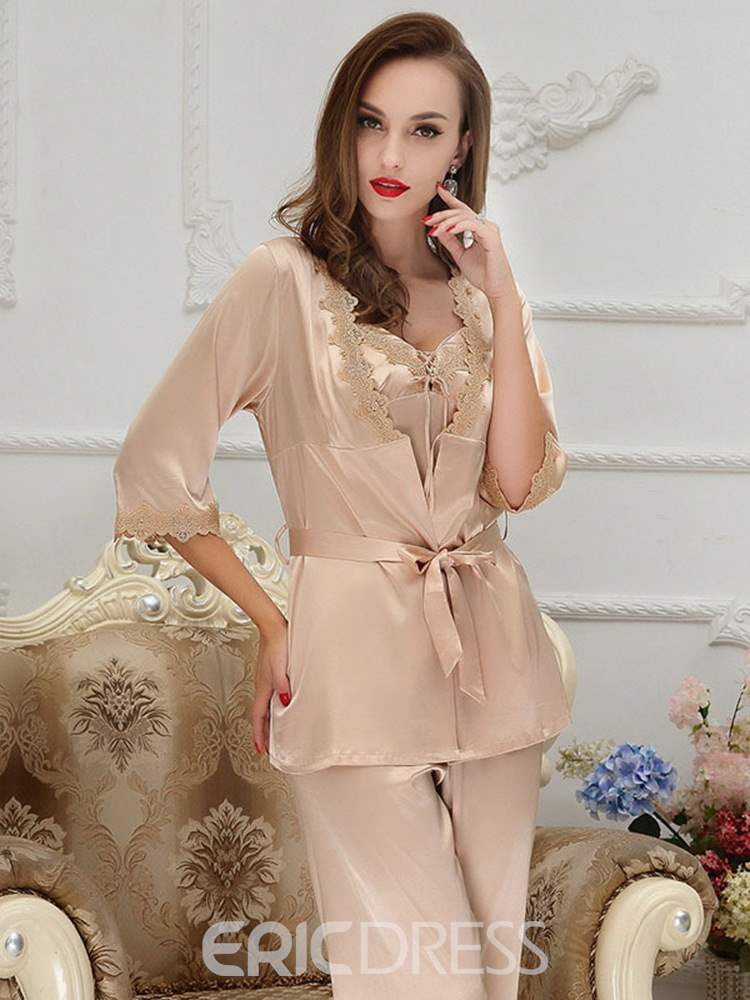 Ericdress Women's Sexy Lace Sleepwear 3 Pieces