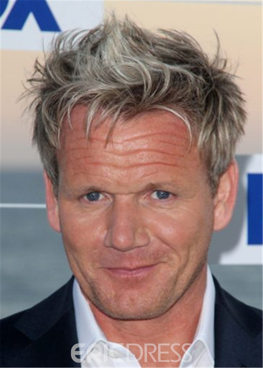 Ericdress Gordon Ramsay Hairstyle Human Hair Full Lace Wig For Men