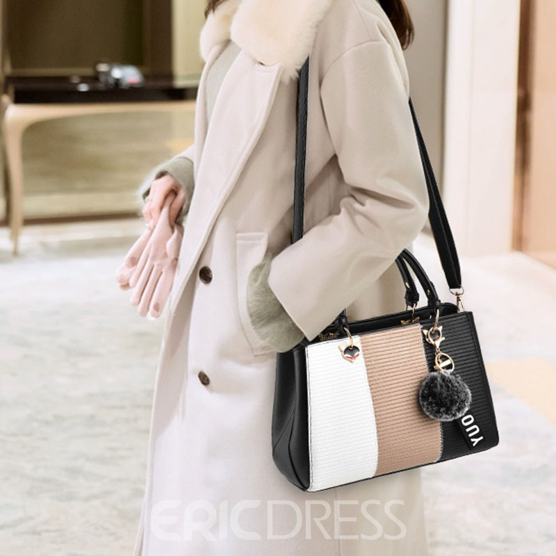 Ericdress Color Block Rectangle Medium Handbag