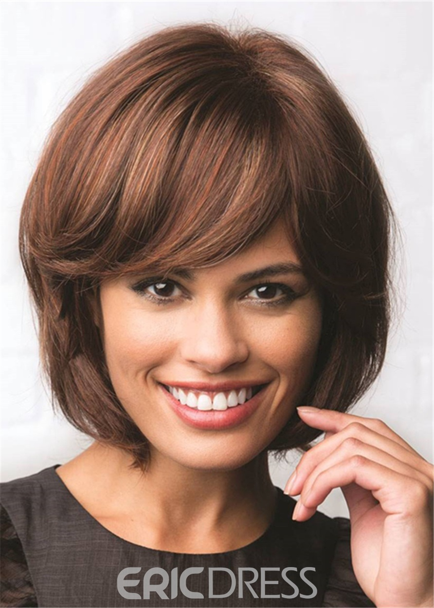 Ericdress Bob Cut Synthetic Straight Hair With Bang Lace Front Wig