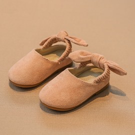 Ericdress Faux Suede Bow Kids Shoes