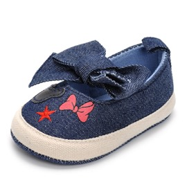 Ericdress Denim Bow Toddler Shoes