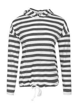 Ericdress Loose Stripe Casual Long Sleeves Cool Hoodie