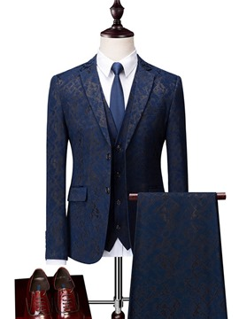 Ericdress Printed Plain 3 Pieces Mens Casual Business Suits