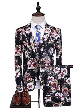 ericdress estampado floral 3 piezas mens casual ball suits