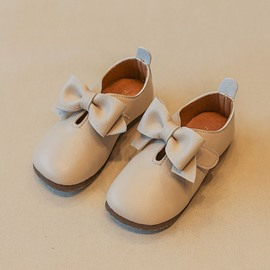Ericdress Bow PU Velcro Kids Shoes