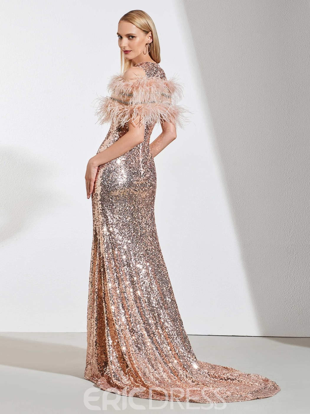 Ericdress Stunning Scoop Neck Sequin Mermaid Evening Dress