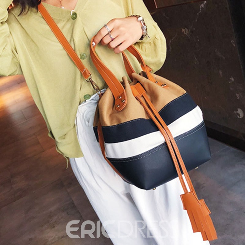 Ericdress Canvas Fringe Soft String Bag