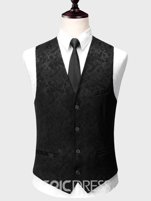 Ericdress Printed Plain 3 Pieces Mens Casual Tuxedo Suits