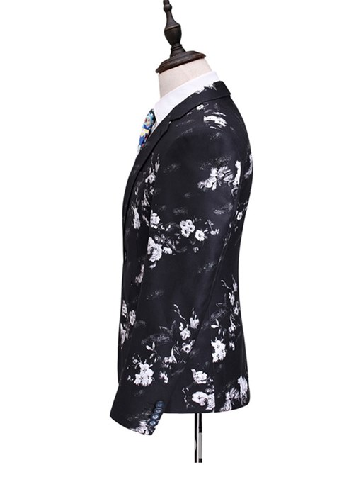 Ericdress Floral Print One Button 3 Pieces Mens Casual Ball Suits