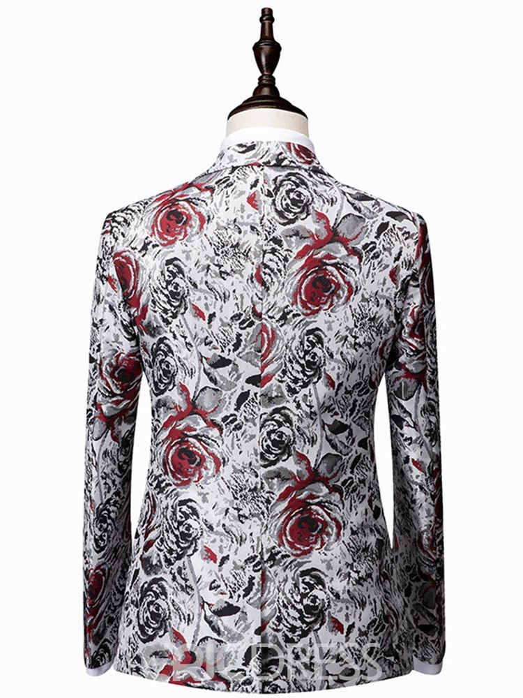 Ericdress floral blazer pants mens casual ball suits