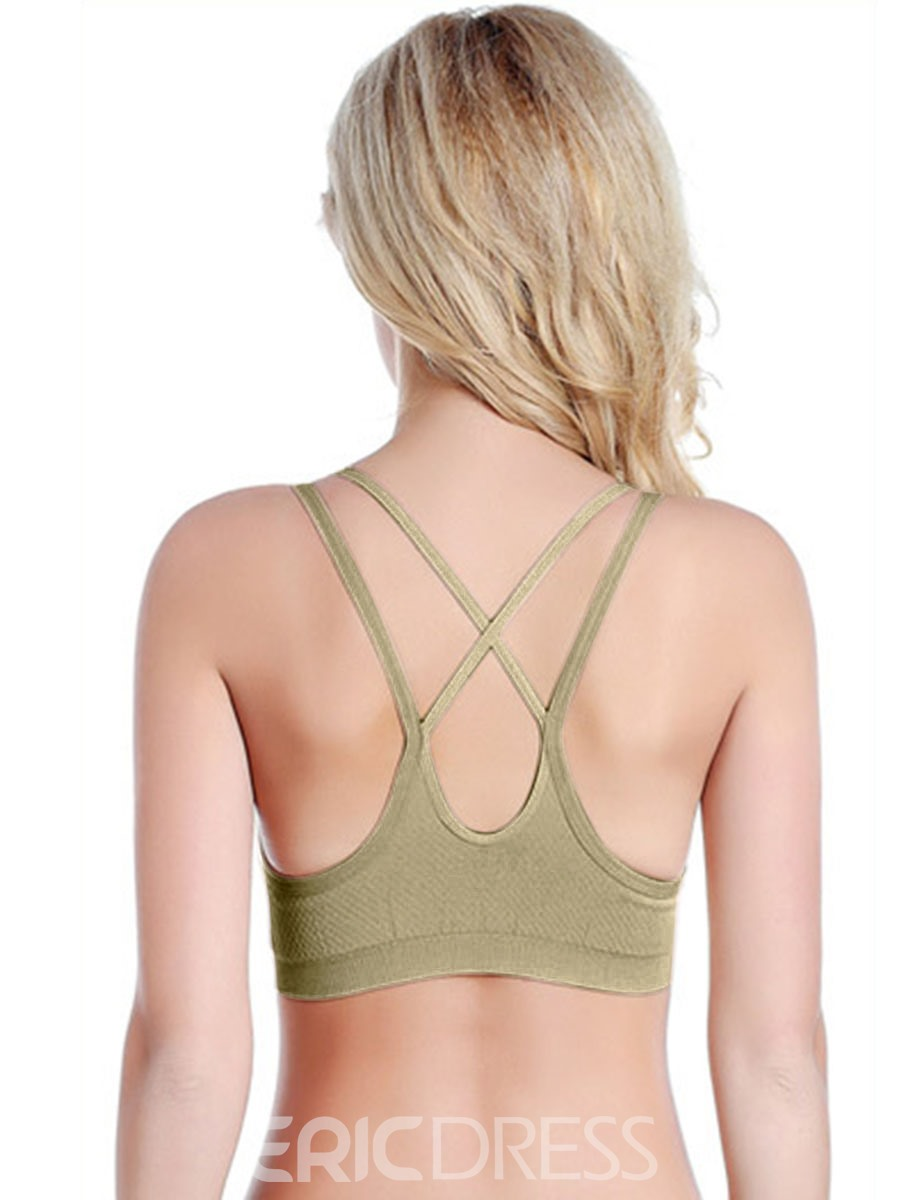 Ericdress Wireless Breathable Seamless Yoga Sport Bra