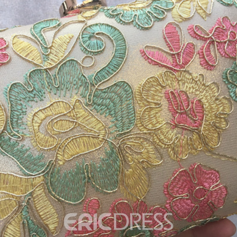 Ericdress Graceful Embroidery Lace Pattern Evening Clutch