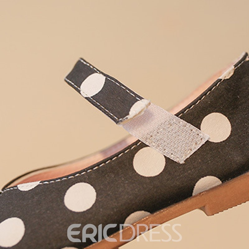 Ericdress Polka Dot Velcro Kids Shoes