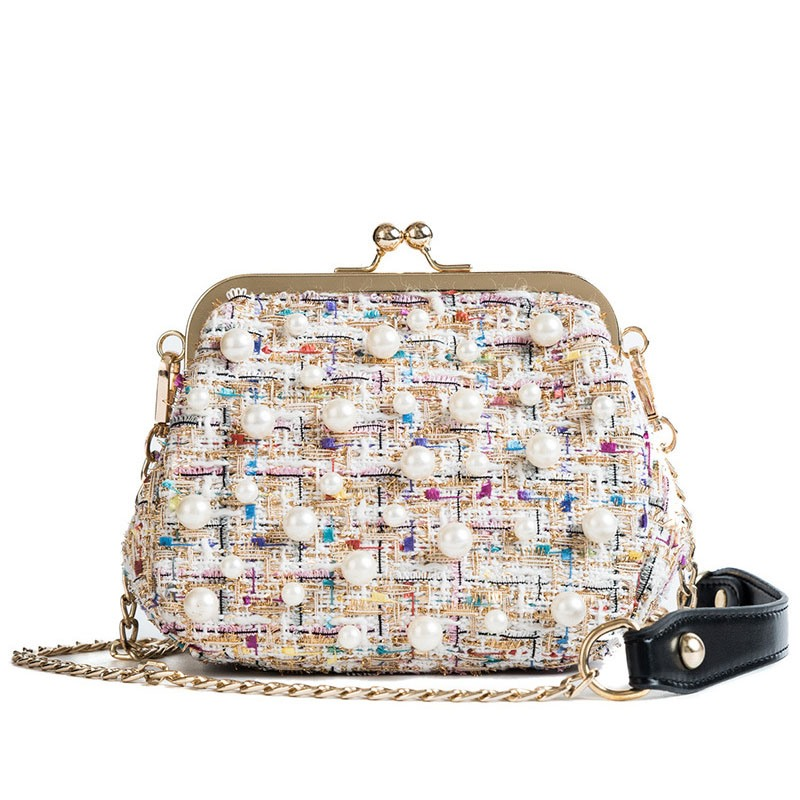 Ericdress Cotton Knitted Hasp Crossbody Bag