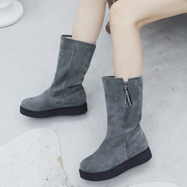 Ericdress Plain Round Toe Slip-On Women's Snow Boots