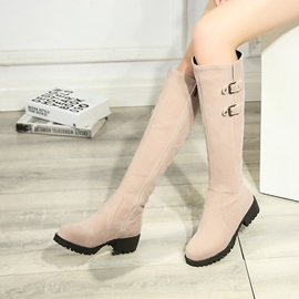Ericdress Side Zipper Block Heel Knee High Boots
