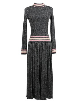 Ericdress Sweater and Skirt Long Sleeves Stand Collar Women's Two Piece Set