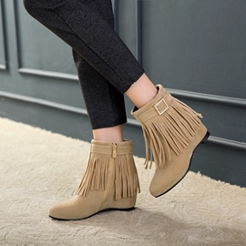 Ericdress Side Zipper Hidden Elevator Heel Ankle Boots