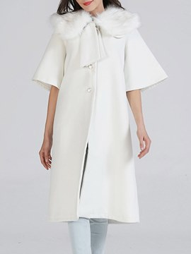 Ericdress Single-Breasted Long Plain Trench Coat
