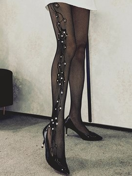 Ericdress Flower with Diamond Fishnet Sexy Pantyhose