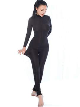 Ericdress Polyester Crotchless Long Sleeve Zipper Teddy