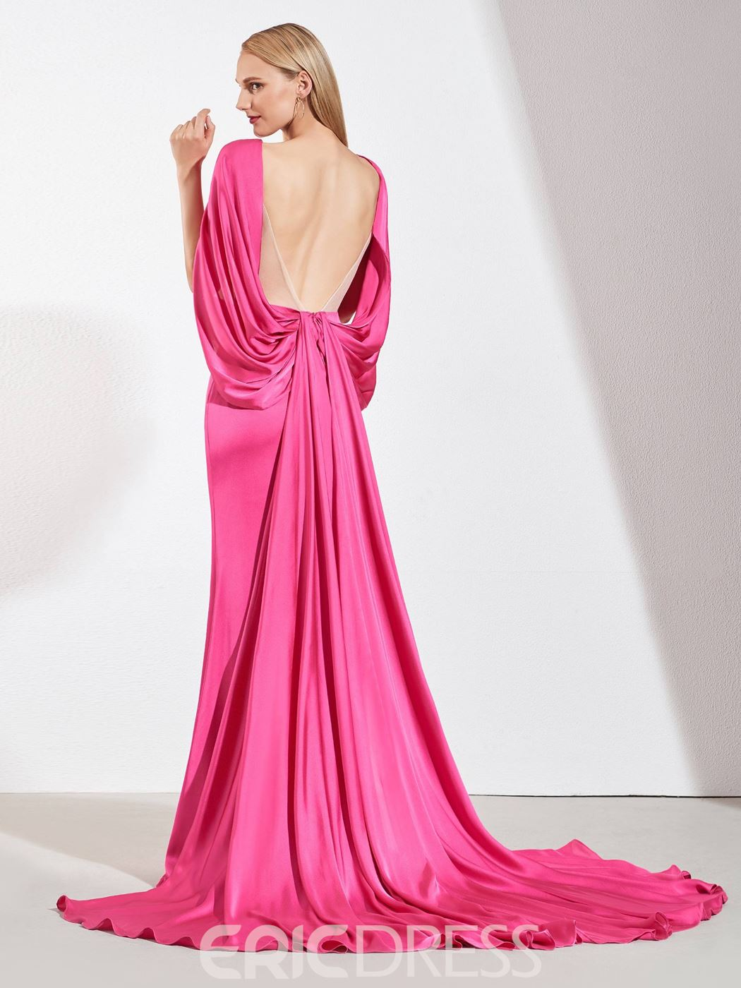 Ericdress Backless Mermaid Evening Dress With Court Train
