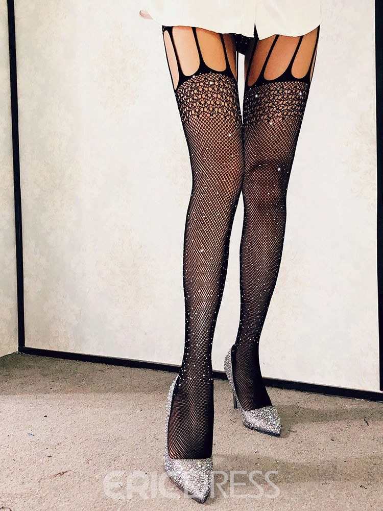 Ericdress Gypsophila Hollow Fishnet Sexy Pantyhose Stocking